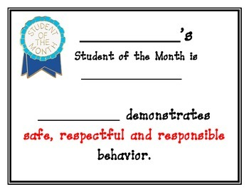 student of the month certificates teaching resources teachers pay