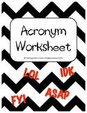 Acronym Worksheet
