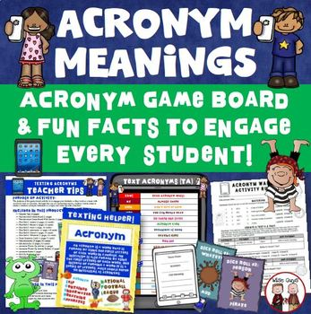 Acronym and Interactive Game Board Activity
