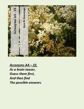 Acronyms AA - ZZ