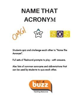 Acronyms - Conversation Cards
