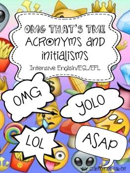Acronyms-Initialisms-OMG-TMI-ESL
