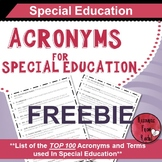Acronyms for Special Education