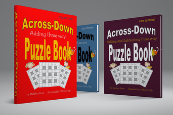 Across-Down Adding and Subtracting  Puzzle Books BUNDLE PACK