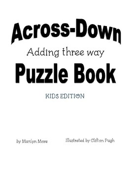 Across-Down Adding three-way Puzzle Book