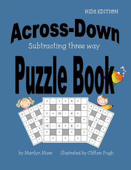 Across-Down Subtracting three way Puzzle Book
