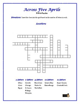 Across Five Aprils: 4 Fill-In Word Puzzles—Fun Downtime Activities!