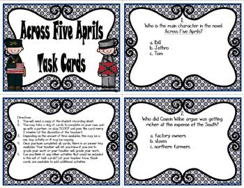 Across Five Aprils Task Cards
