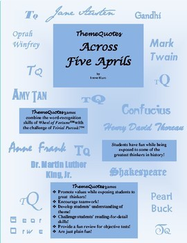 Across Five Aprils Trivia Game—252 Questions! Not Your Typical Trivia Game!