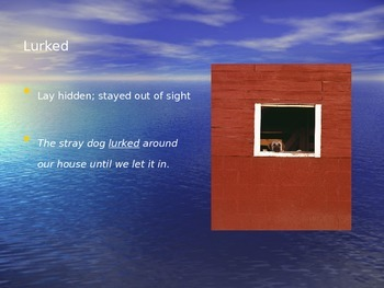 """Across the Wide Dark Sea"" Vocabulary"