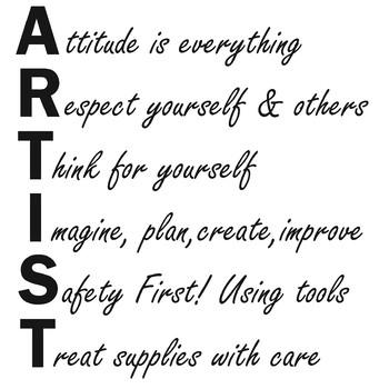 Acrostic Art Room Sign
