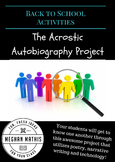 Back to School Activities - Acrostic Autobiography Project