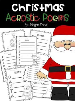 Acrostic Christmas Poems