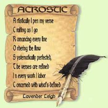 Acrostic Family Poem - Smartboard