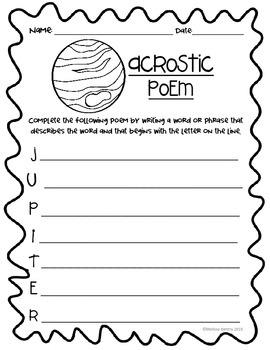 Acrostic Jupiter Poem