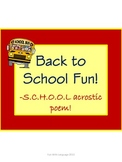 Acrostic Poem Activity for Back to School Fun and Creative Writing!