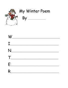 Seasons Acrostic Poem