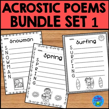 Acrostic Poem Bundle Set 1 January July By The Froggy Factory