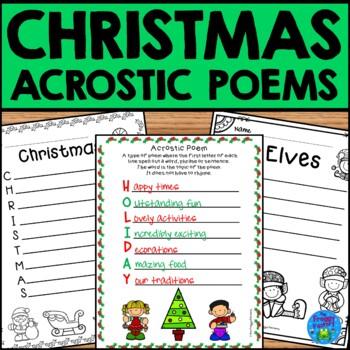 Acrostic Poem Bundle Set 2 (August - December)