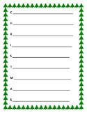 Acrostic Poem- Christmas, Holidays