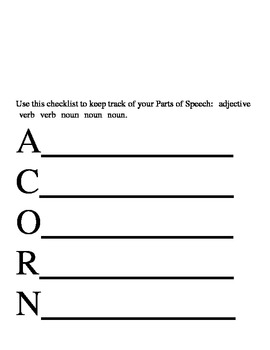 Acrostic Poem Handouts - Autumn Theme
