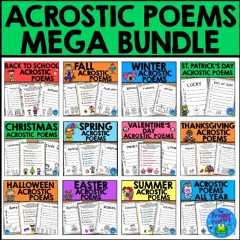 Acrostic Poem Mega Bundle (January - December)