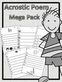 Acrostic Poem Mega Pack