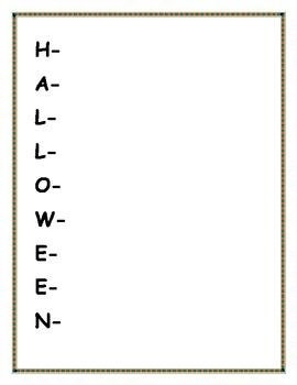 Acrostic Poem Worksheets