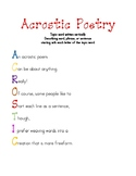 Acrostic Poem Poster