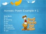 Acrostic Poem PowerPoint