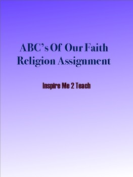 Acrostic Poem Religion Assignment