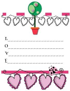 Acrostic Poem Stationery (Word: Love)