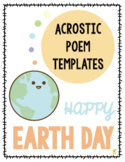 Acrostic Poem Templates: EARTH DAY