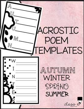 Acrostic Poem Templates FREE