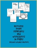 Acrostic Poem Templates Includes Christmas, Spring, Turkey