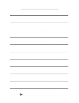 Acrostic Poem Writing Activity with Directions and Template