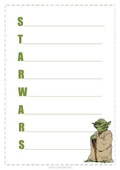 Acrostic Poem - Yoda (Star Wars)