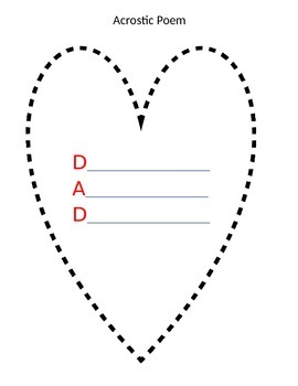 FREE English/Spanish-Acrostic Poem for DAD/PAPA