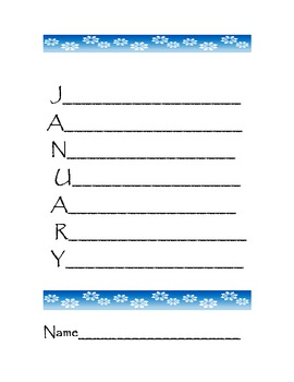 Acrostic Poem for January