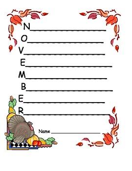 Acrostic Poem of November