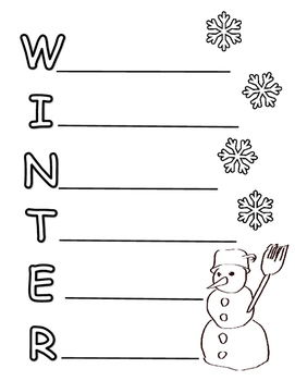 Acrostic Poems: 4 Seasons & Holidays