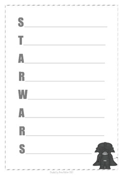 Acrostic Poems - Darth Vader (Star Wars)