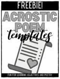Acrostic Poems - FREEBIE!