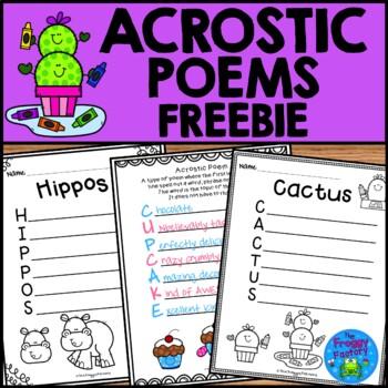 Acrostic Poems - FREEBIE