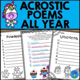 Acrostic Poems - Fun All Year Writing Activity