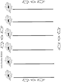Acrostic Poems Template for Seasons
