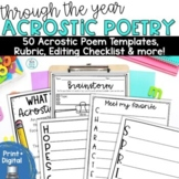 Acrostic Poem Templates For the Year