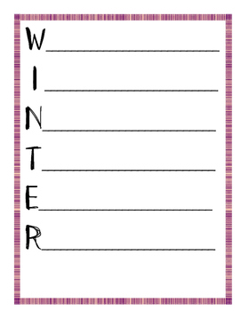Acrostic Poems for Each Season - Writing Activities