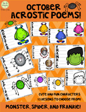 Acrostic Poems for October; Poetry, Creative Writing, Octo