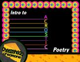 Acrostic Poetry Mini-lesson
